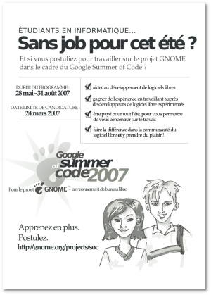 Google Summer of Code 2007 - GNOME poster (french)