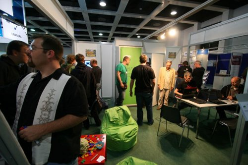 openSUSE booth at LinuxTag