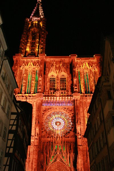Illuminations of the Strasbourg Cathedral